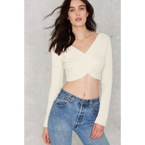 Nasty Gal cross crop sweater